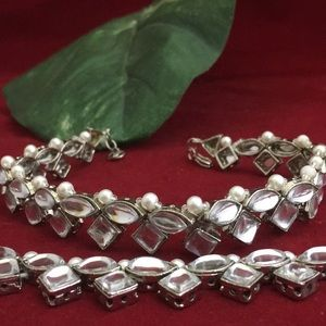 Jewelry - Nwot beautiful pair of anklets silver polish